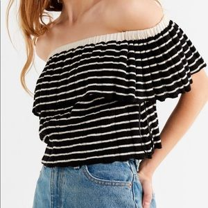 UO OTS striped shirt